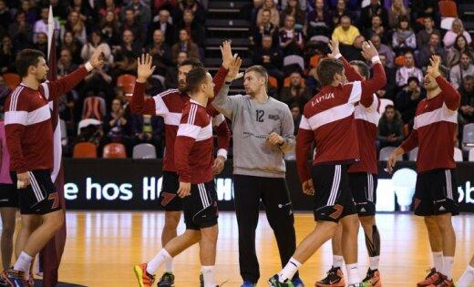 Latvijas handbola izlase PČ kvalifikācijas turnīru iesāk ar uzvaru pār Gruziju