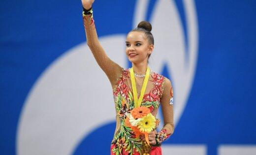 Дина Аверина одолела вмеждународном турнире похудожественной гимнастике в российской столице