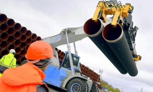 Vācijā sākta Eiropas neatkarību apdraudošā 'Nord Stream 2' būvniecība