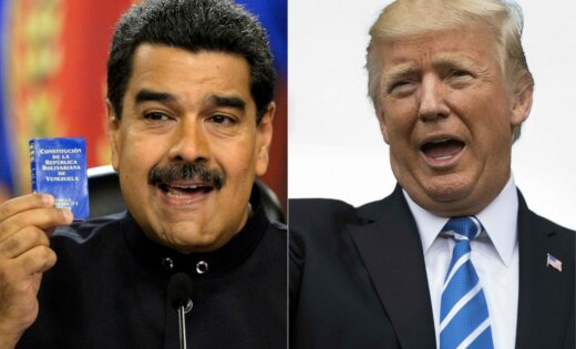 Tramps apsver militāru risinājumu Venecuēlas krīzes risināšanā