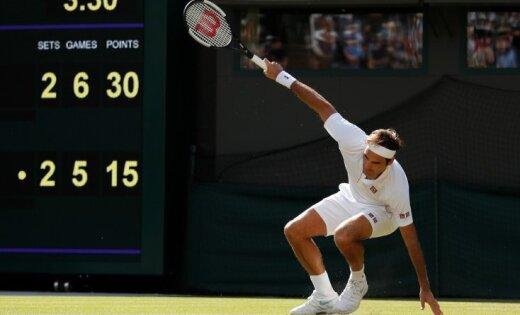 Andersons četru stundu ilgā Vimbldonas ceturtdaļfināla mačā 'nolauž' Federeru