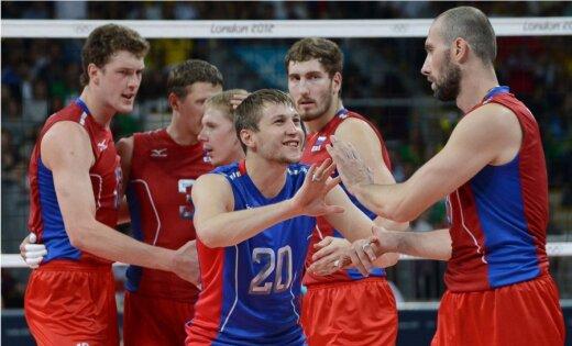Krievijas volejbolisti fantastiskā finālā triumfē Londonas Olimpiādē
