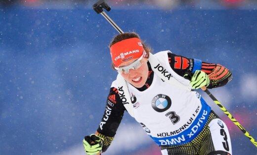 Dālmeiere ar Vācijas izlasi triumfē stafetē un izcīna savu ceturto medaļu PČ