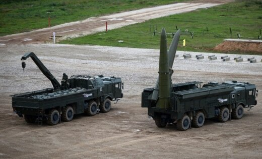 Kaļiņingradas sākas militārās mācības ar raķešu 'Iskander' izmantošanu