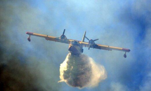 Portugālē piektdien reģistrēts rekordliels skaits savvaļas ugunsgrēku