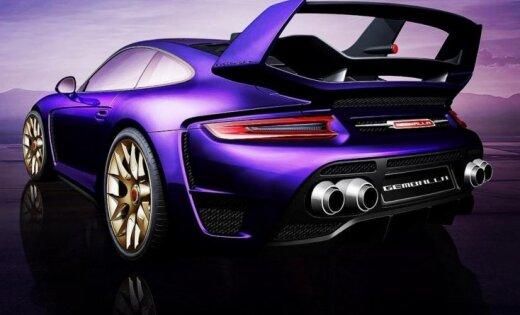 'Gemballa' pārveidotais 'Porsche 911' ar 820 ZS