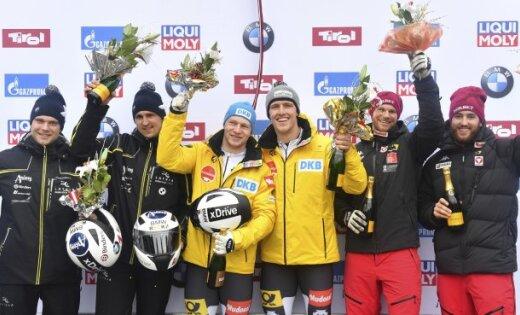 Латвийский экипаж Мелбардиса одержал победу этап Кубка мира вИглсе