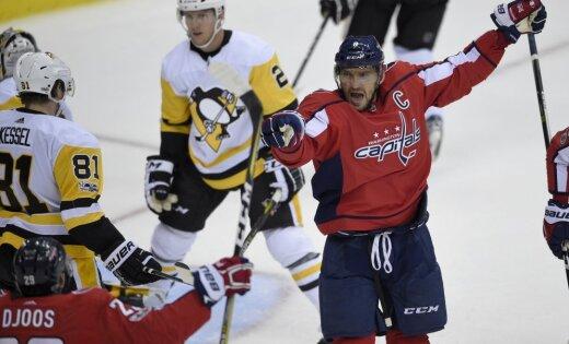 Гол Овечкина неспас «Вашингтон» отпоражения «Питтсбургу» в постоянном чемпионате НХЛ