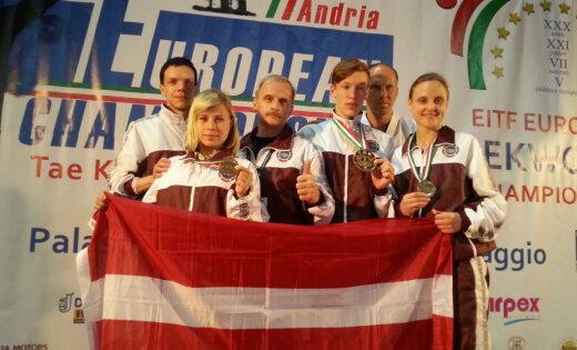 Таэквондисты Латвии завоевали три медали на чемпионате Европы