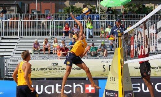 Latvijas pludmales volejbolisti piedzīvo zaudējumu 'Grand Slam' posma kvalifikācijā