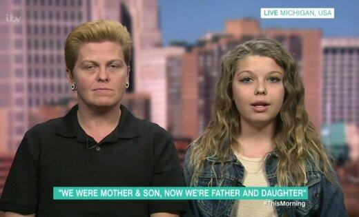 Transpersonu ģimene: māte un dēls, kuri grib kļūt par tēvu un meitu