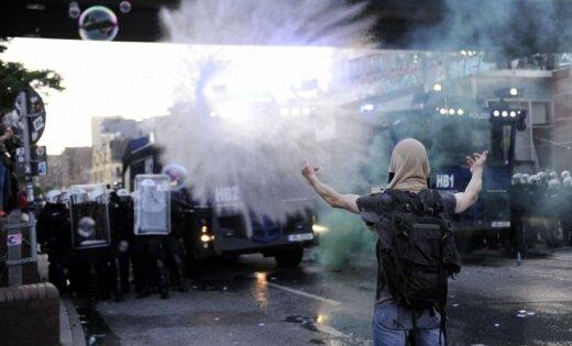 Беспорядки вГамбурге: вандализм, поджоги инападения наполицейских