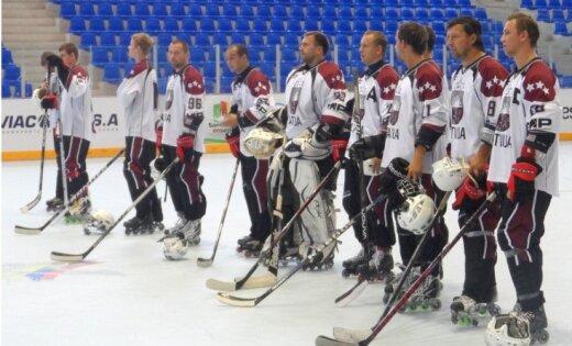 Latvijas inline hokeja izlasei zaudējums otrajā PČ kvalifikācijas turnīra spēlē