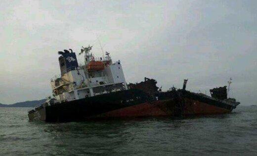 Dzeltenajā jūrā uzsprāgst un nogrimst Dienvidkorejas tankkuģis; pieci cilvēki gājuši bojā un seši pazuduši
