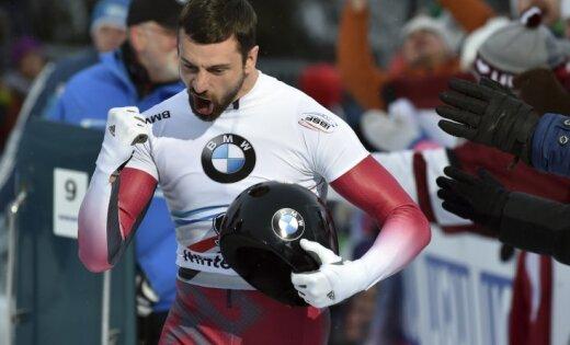 Русский скелетонист Третьяков завоевал бронзу чемпионата Европы