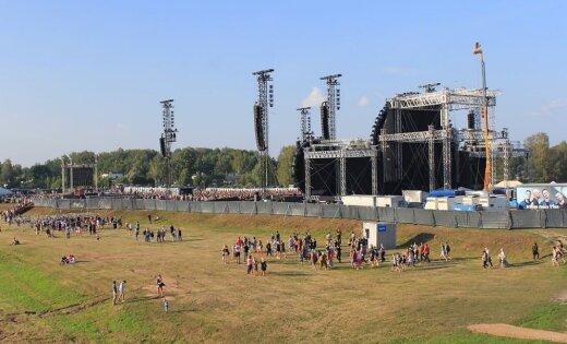 ФОТО: Концерт группы Prāta vētra в Елгаве посетило рекордное количество зрителей