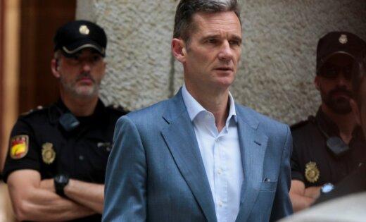 Spānijas tiesa liek karaļa svainim piecu dienu laikā ierasties cietumā soda izciešanai