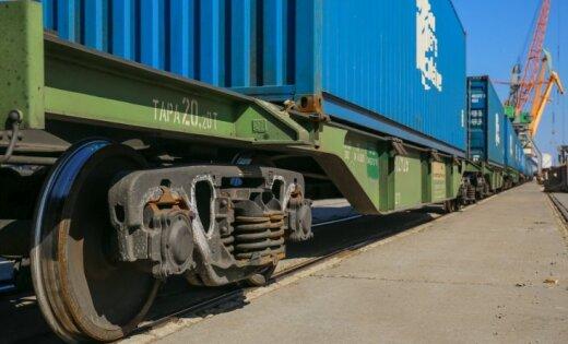 На следующей неделе в Ригу прибудет контейнерный поезд из Китая