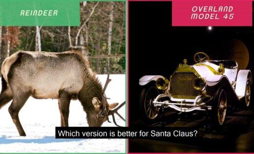 Video: Rīgas Motormuzejs asprātīgās reklāmās Ziemassvētku vecītim piedāvā jaunus braucamos