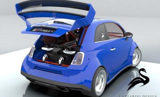 В малолитражку Fiat 500 поставили двигатель Ferrari