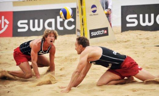 Samoilovs/Sorokins neveiksmīgi iesāk pludmales volejbola jauno sezonu