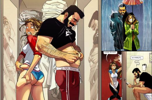 """""""Любовь — это…"""". 10 смешных картинок, в героях которых себя узнает каждая пара"""