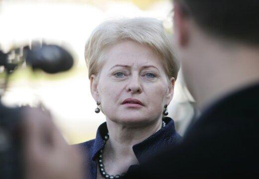 Президент Литвы Грибаускайте заявила о нежелании общаться с Путиным