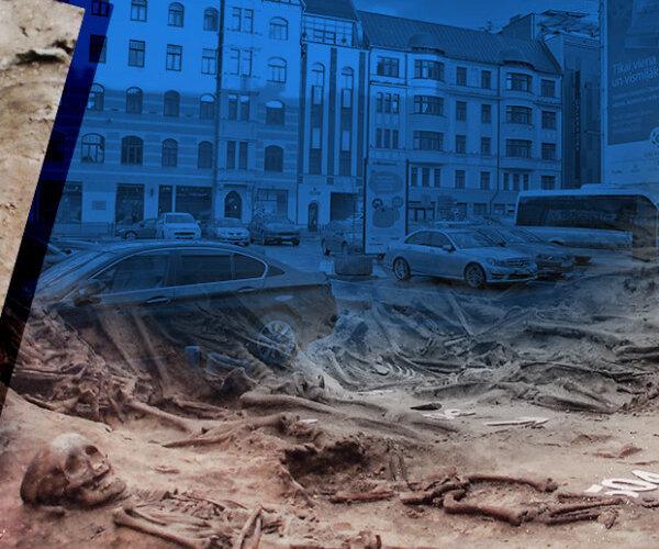 'Delfi' pēta: viltus 'sumpurnis' un 4000 skeletu Rīgas centrā