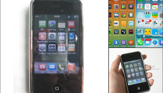 Āboli ar tārpiem: seši piemēri ķīniešu 'iPhone' pakaļdarinājumiem