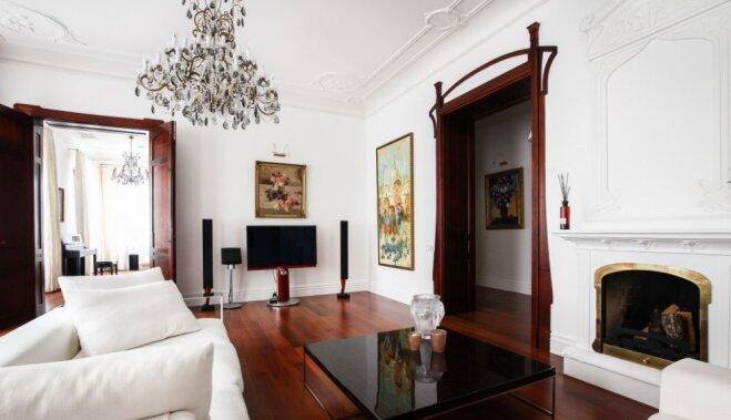 ФОТО. Между роскошью и вкусом: как изнутри выглядит шестикомнатная квартира на улице Бривибас в Риге