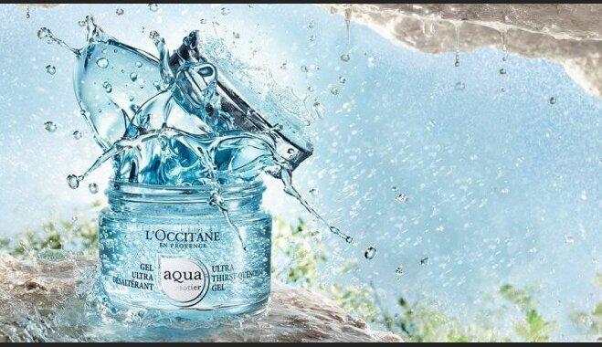 LOccitane jaunums dziļi mitrinoša sejas ādas kopšanas kolekcija Aqua Réotier