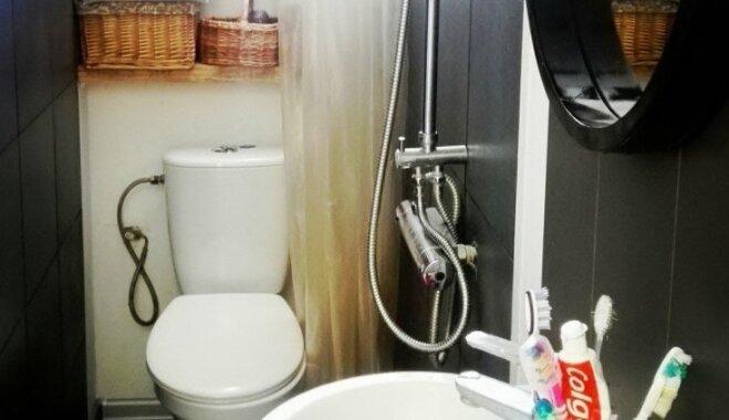 Pieredzes stāsts: 3,5 kvadrātmetru pieliekamais kambaris pārtop vannasistabā