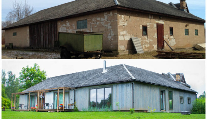 Neticamās pārvērtības: burvīga brīvdienu māja Sērenē, kas vēl nesen bija saimniecības ēka