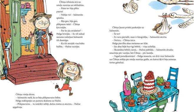 Latviskota populārā somu bērnu grāmata par māsām – 'Salmenīte, Čībiņa un Plikpauris Pēcis'