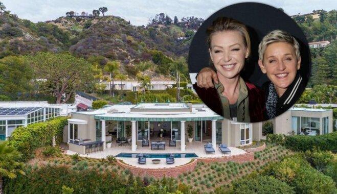Foto: Elenas Dedženeresas un viņas sievas 15 miljonus vērtā luksusa māja Beverlihilsā