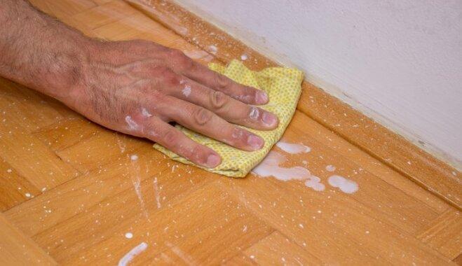 Kosmētiskā remonta sekas: kā nomazgāt krāsas traipus uz grīdas