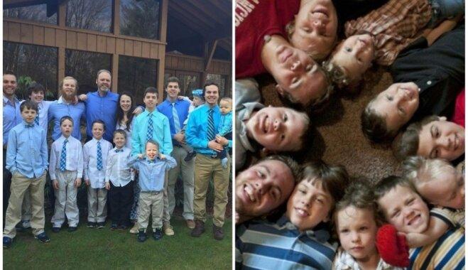 Ģimene no ASV, kurā aug 13 dēli, gaida pasaulē ierodamies 14. mazuli