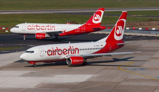 'Air Berlin' pieteiktās maksātnespējas dēļ patērētājiem iesaka rezervēt lidojumus citās aviokompānijās
