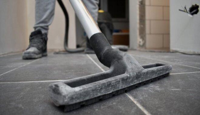 Smalki kā pūdercukurs – kā satīrīt celtniecības putekļus