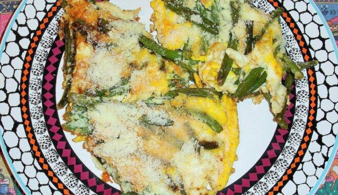 Omlete ar pākšu pupiņām un sieru
