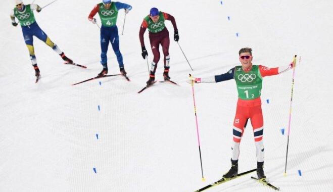 XXIII Ziemas olimpisko spēļu rezultāti distanču slēpošanā vīriešiem komandu sprinta sacensībās (21.02.2018.)