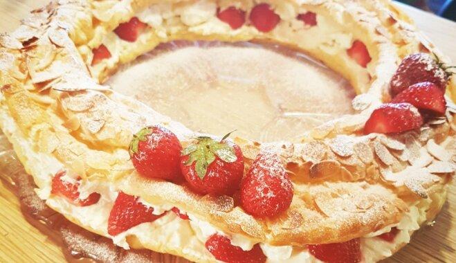 Franču konditorejas klasika – plaucētās mīklas kūka 'Paris-Brest'