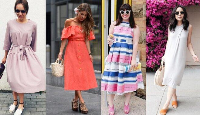 Mūžīgi aktuālais midi: pusgaro kleitu versijas vasarai