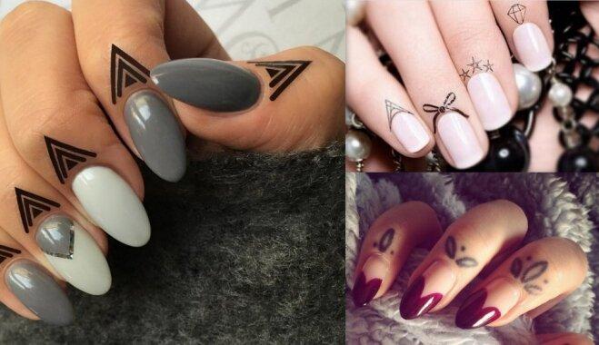 Šobrīd modē: mazi un piemīlīgi tetovējumi uz pirkstiem