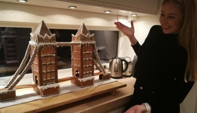 Latviete Norvēģijā 14 stundās rada pasakainu piparkūku namiņu