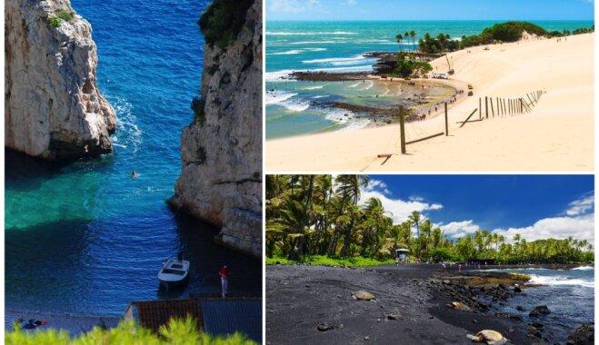 Neparastas, valdzinošas un krāsainas: pārsteidzošas pludmales no visas pasaules