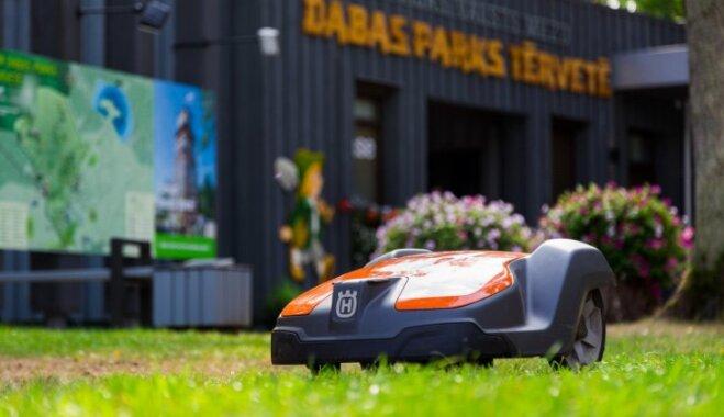 Perfekts – tā Rūmenes muižā, Kalnmuižas pilī un Botāniskajā dārzā atsaucas par 'Husqvarna' robotizēto zāles pļāvēju 'Automower'
