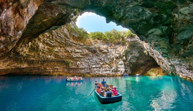 Подземное царство: греческое озеро Мелиссани, которое спрятано в пещере 9 (ВИДЕО)