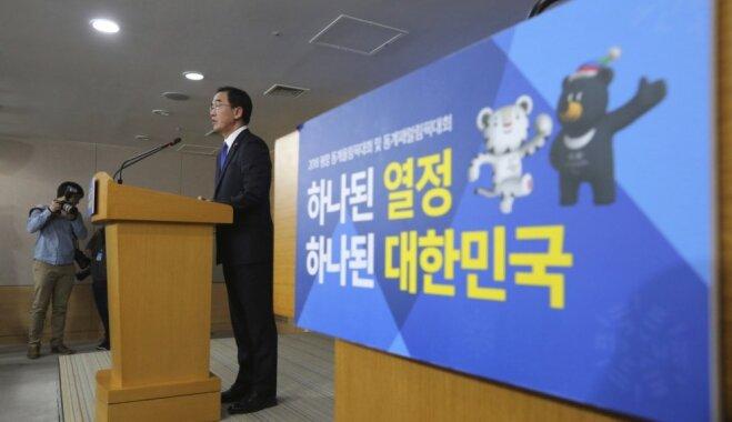 Dienvidkoreja piedāvā Ziemeļkorejai sarunas par sadarbību saistībā ar olimpiskajām spēlēm