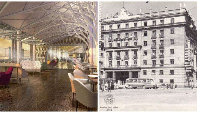 Toreiz un tagad: Kā izskatīsies jaunā 'Kempinski' viesnīca bijušās viesnīcas 'Rīga' ēkā